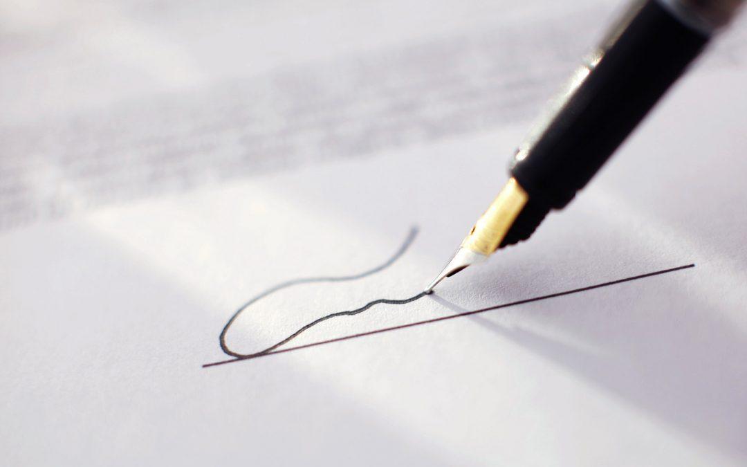 Ondertekening Akte van Oprichting bij notariskantoor Zuidbroek B.V.